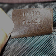 "GUCCI: Brown Leather, & ""GG"" Logo Large Weekender/Duffel Bag (ve)"