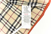 "BURBERRY Baby: Rust & ""Nova Check"" Quilted Car Coat/Jacket Sz: 3Months - Unisex"