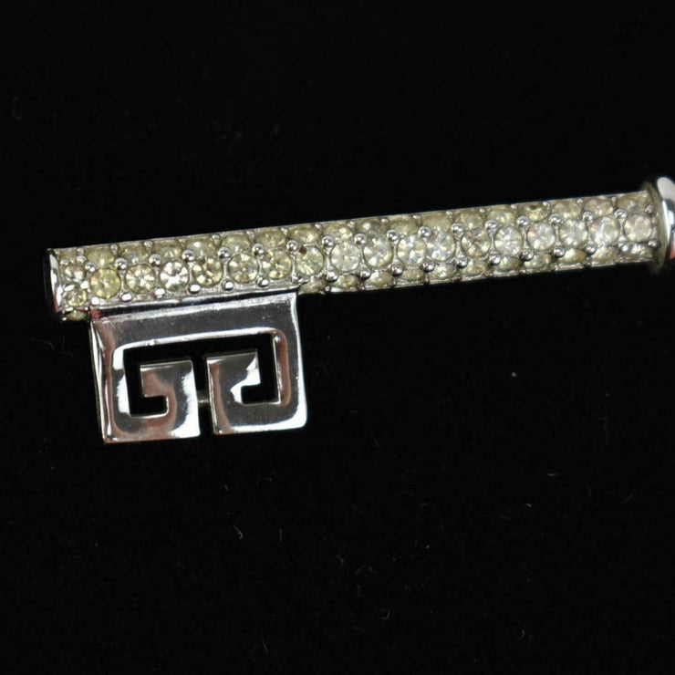 "GIVENCHY: Silver, Metal ""Double G"" Logo Key Pin/Brooch (mn)"
