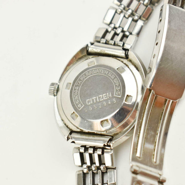 "CITIZEN ""Date Star Custom"": Stainless Steel, Women's Automatic Watch (mn)"