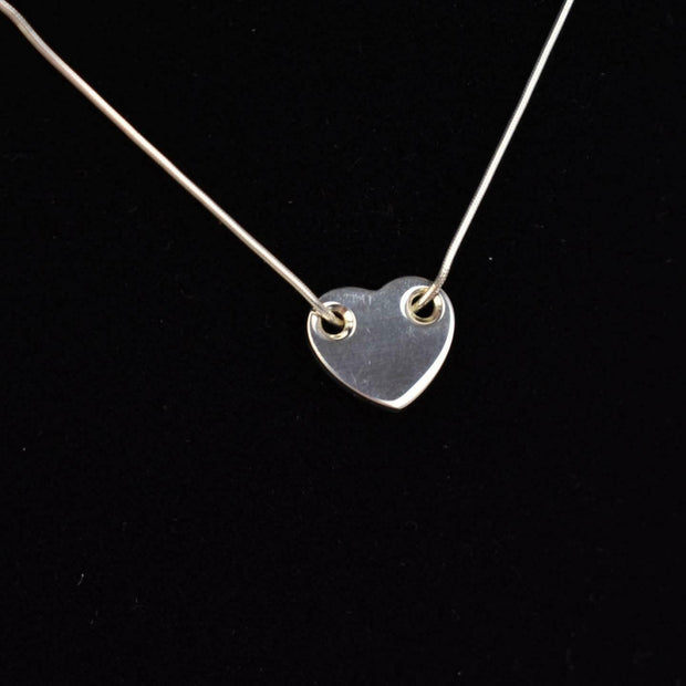 TIFFANY & CO: Sterling Silver Heart Necklace (wz)