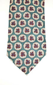GIVENCHY: Teal Green, Floral 100% Silk, Club Tie (mo)