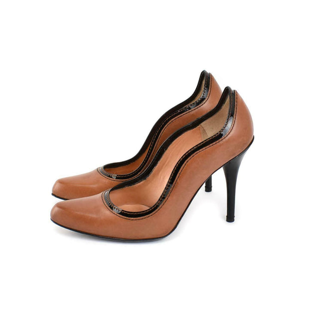 DOLCE & GABBANA: Saddle Brown, Leather Heels/Pumps Sz: 6.5M