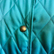 "BURBERRY ""Constance"": Sky Blue & ""Nova Check"" Diamond Quilted Jacket Sz: 10"