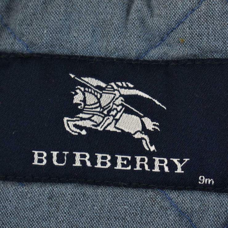 "BURBERRY Baby: Blue, Denim & ""Nova Check"" Hooded Jacket/Toggle Coat Sz: 9Mo"
