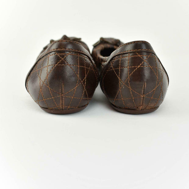 "DIOR ""Cannage"": Brown, Leather & ""CD"" Logo, Loafers/Flats Sz: 7.5M"