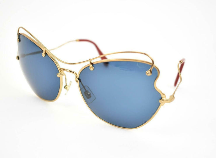 "MIU MIU ""Scenique"": Gold Metal Butterfly & Logo ""Runway"" Sunglasses (u)"
