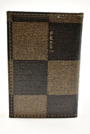 "FENDI: Brown ""Damier "" & Logo Phonebook (mo)"