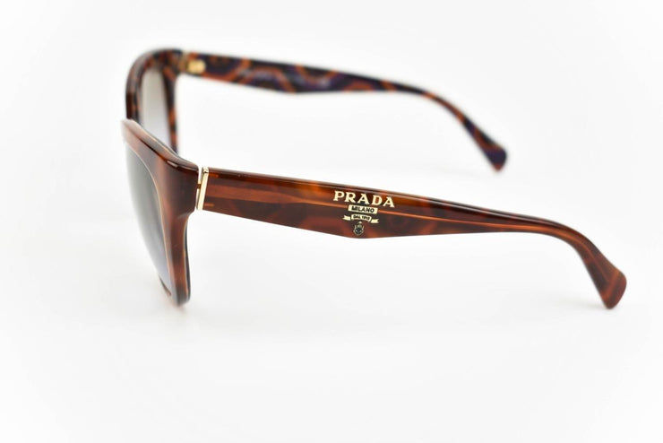 "PRADA ""Cat Eye"": Tortoise Brown & Logo Sunglasses (mr)"