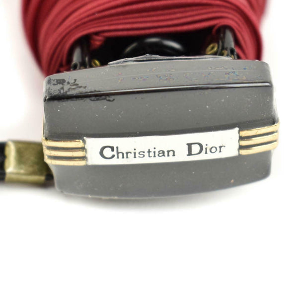 CHRISTIAN DIOR: Ruby Red, Logo Compact Travel Umbrella (mp)