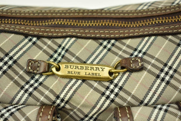 "BURBERRY London: Brown, Leather & ""Nova Check"" Crossbody/Shoulder Bag (h)"
