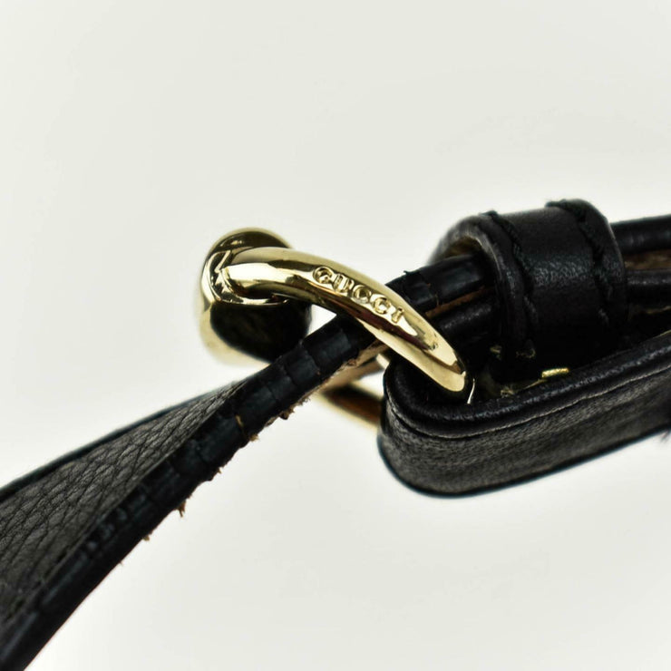 "GUCCI: Black Leather & Gold ""Horsebit"" Buckle, Waist Belt fits 34"" to 38"" (ps)"