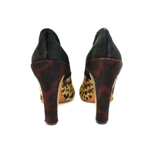 BRIAN ATWOOD: Multicolor, Leopard Print Calf-Hair Heels/Pumps Sz: 8M