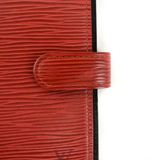 "LOUIS VUITTON ""Epi"": Red, Leather & ""LV"" Logo Folding Wallet/Agenda (tn)"