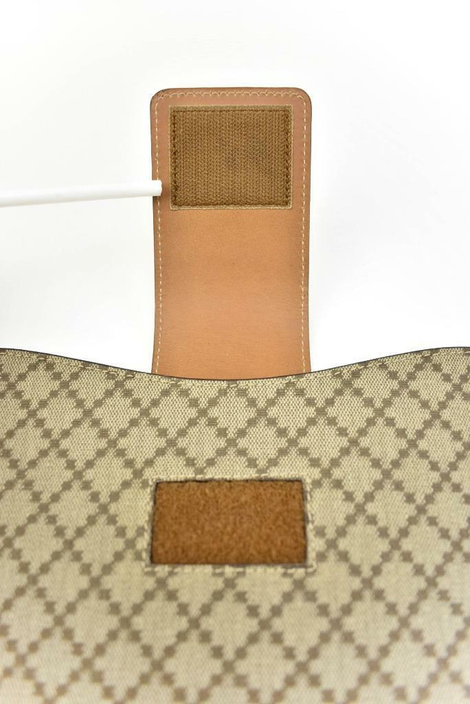 "GUCCI: Brown, Leather & ""Diamante"" iPad/Tablet Pouch/Sleeve (o)"