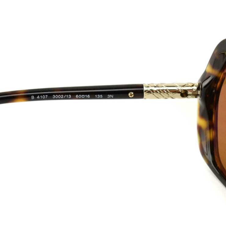 "BURBERRY: Tortoise Brown & Gold ""Nova Check"" Polarized Sunglasses (qo)"