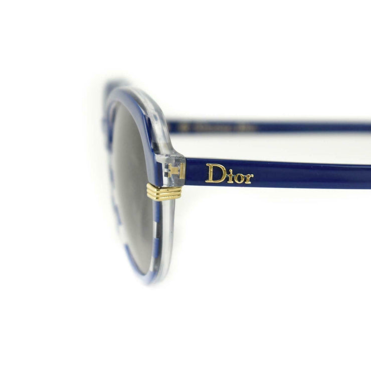 "DIOR ""Croisette 3"": Navy Blue, Stripe & Gold Logo Sunglasses (mn)"