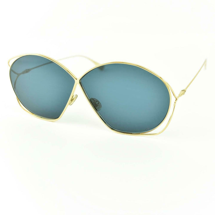 "DIOR ""Stellaire2"": Gold Metal & ""CD"" Logo Sunglasses (mp)"