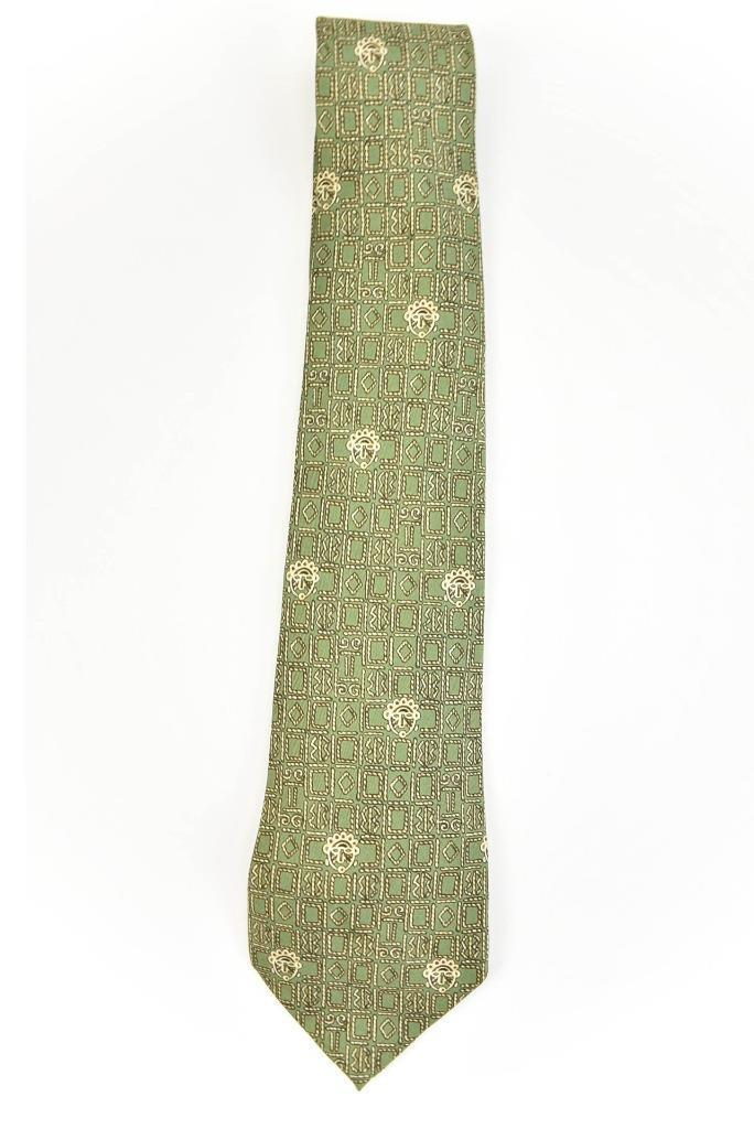 "HERMES ""Aztec"": Pale Green, 100% Silk Club Tie"