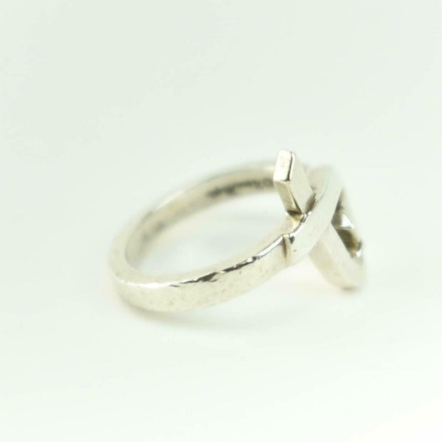 "TIFFANY & CO ""Paloma Picasso"": Sterling Silver ""Loving Heart"" Ring Sz: 5.5 (ms)"