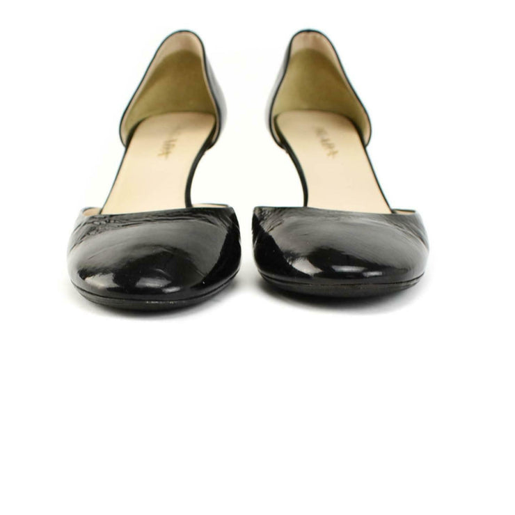 PRADA: Black, Patent Leather D'Orsay Heels/Pumps Sz: 7.5M