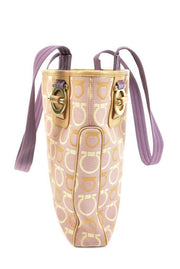 "SALVATORE FERRAGAMO: Light Lilac & ""Gancini"" Logo Medium Shoulder/Tote Bag (mn)"