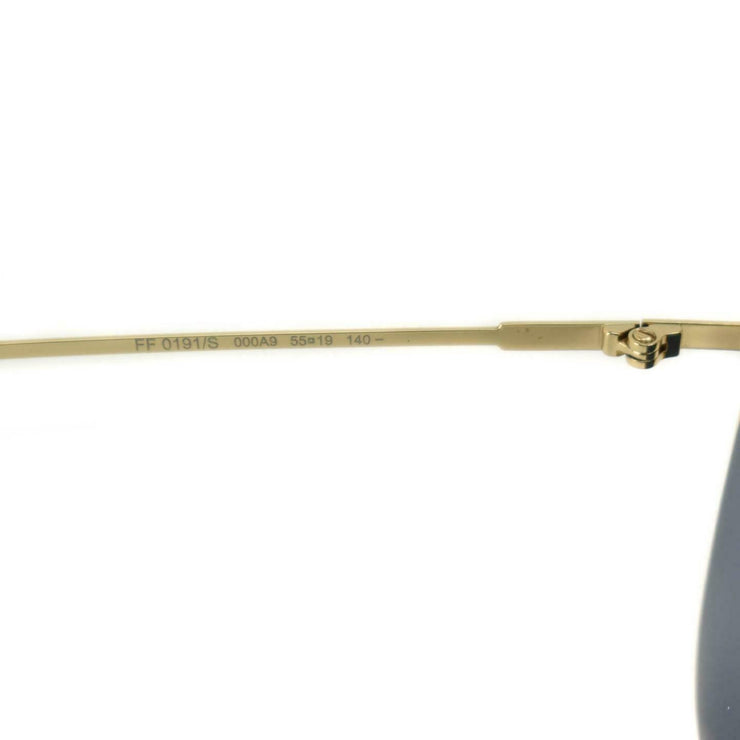 FENDI: Gold/Periwinkle, Metal Logo Cat-Eye Sunglasses (nr)