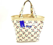 "BURBERRY London: Beige & ""Polka Dot"" Medium Reversible Tote Bag (ty)"