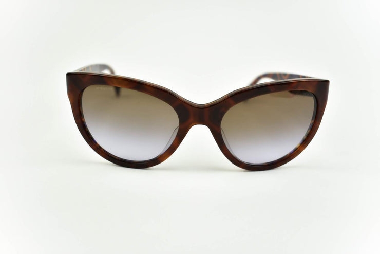 PRADA: Tortoise/Havana Brown & Gold Logo Sunglasses (m)