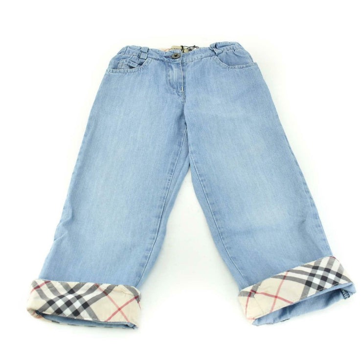 "BURBERRY Girls: Blue, Denim & ""Nova Check"" Jeans/Pants, Sz 4Y/104cm"