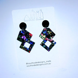 Glitterati Earrings in Kaleidoscope