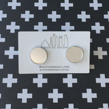 Silver mirror circle studs