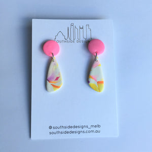 Signature Clay Dangles in Fairy Floss