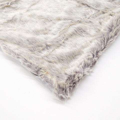 Grey Frost Fur Throw Small