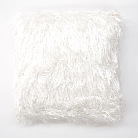 Mink White Fur Cushion