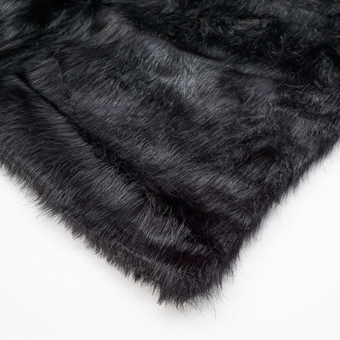 Black Nero Fur Throw Large