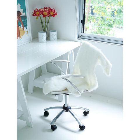 White Mammoth Chair Cover