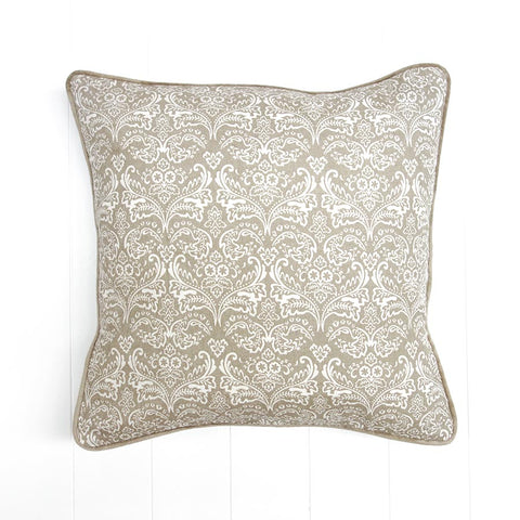 Empire Printed Cushion Mocha