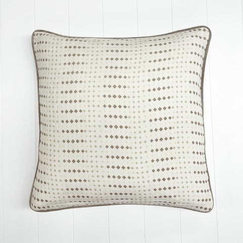 Rhombus Printed Cushion Clay