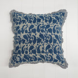 Dabu Paisley Cushion Indigo