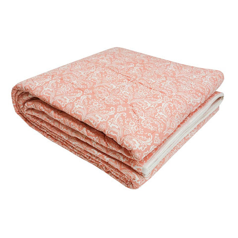 Empire Quilted Bedcover Blush