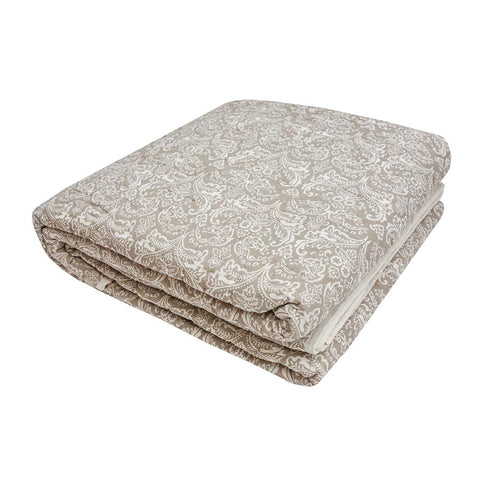 Empire Quilted Bedcover Mocha