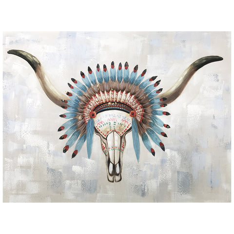 Indian Bull Head Artwork