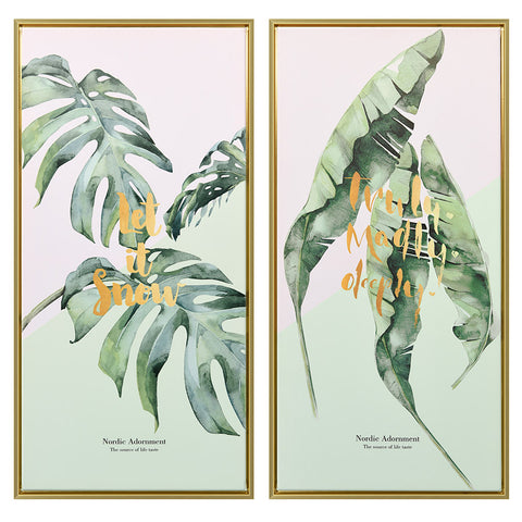 Two Piece Palm Framed Print
