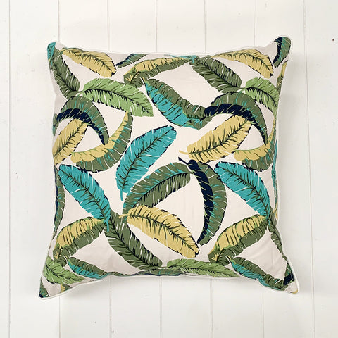 Banana Leaf White Cushion