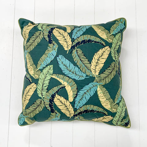 Banana Leaf Black Cushion