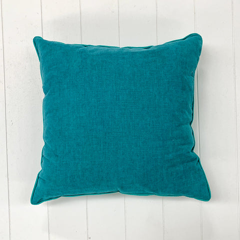 Never Light Blue Cushion