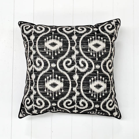 Black Scroll Cushion