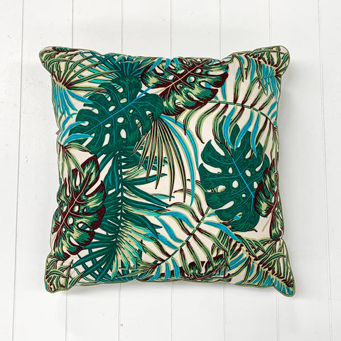 Green Blue Leaf Cushion