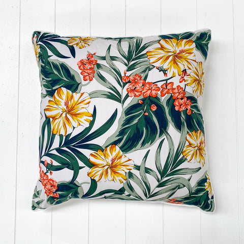 Golden Blue Leaf Cushion